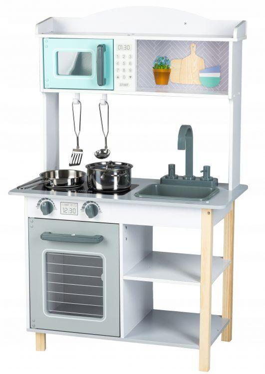 EcoToys koka rotaļu virtuve ar piederumiem 7256A