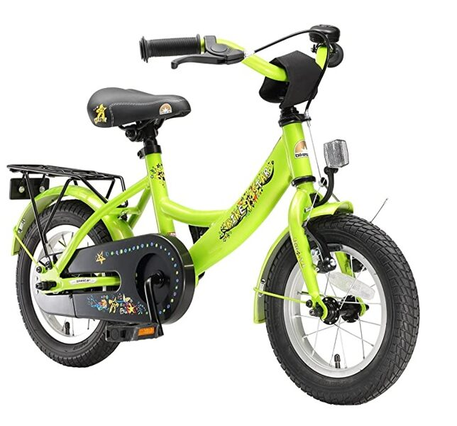 Bikestar bērnu velosipēds, 12`, zaļš