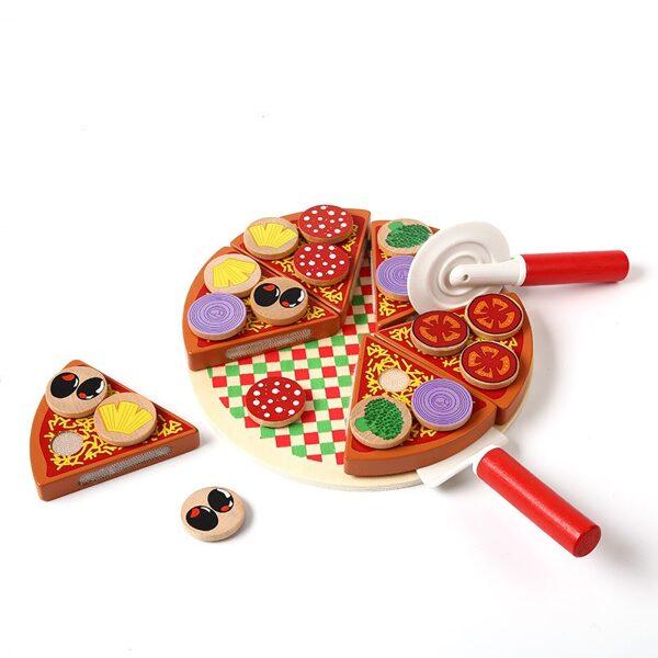 Koka rotaļu pica ar piederumiem, Ikonka