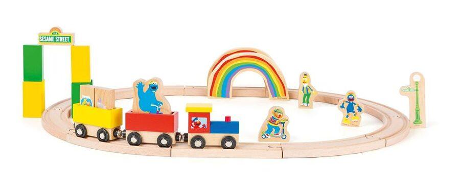 10964 Sesame Street koka vilciens ar sliedēm
