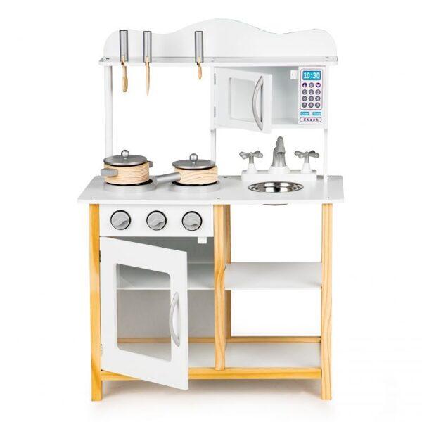 EcoToys rotaļu virtuve ar piederumiem TK040A-WHITE