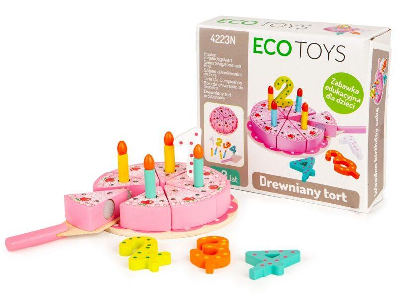 EcoToys dzimšanas dienas kūkas komplekts