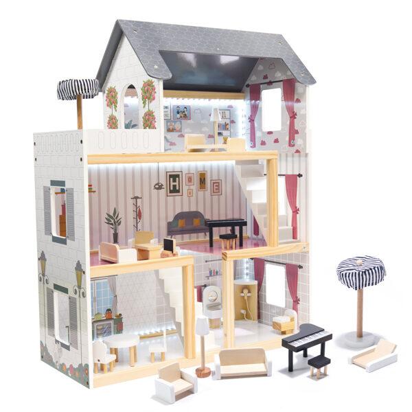 Rotaļu leļļu māja Ikonka KX6201