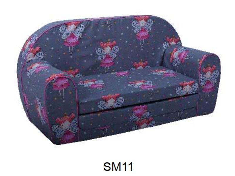 Bērnu mīkstais izvelkams dīvāns