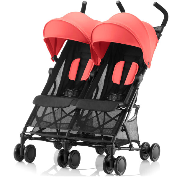 Britax Holiday Double Coral Peach dvīņu rati